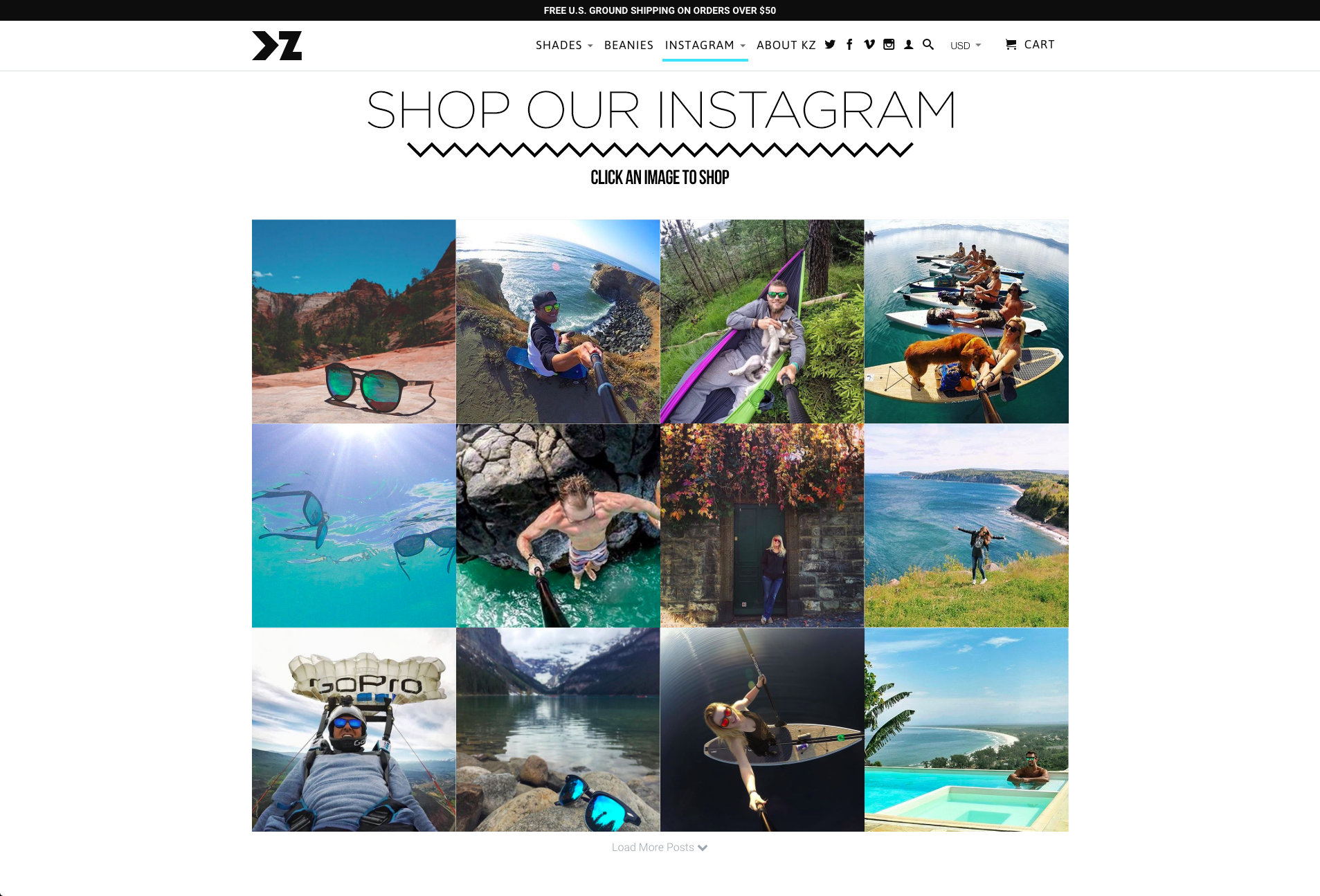kz gear shoppable instagram