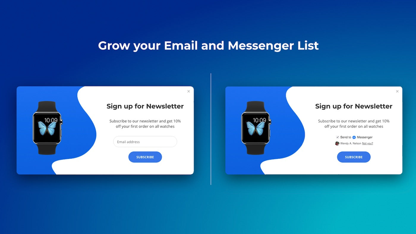 List building tools for email or Messenger