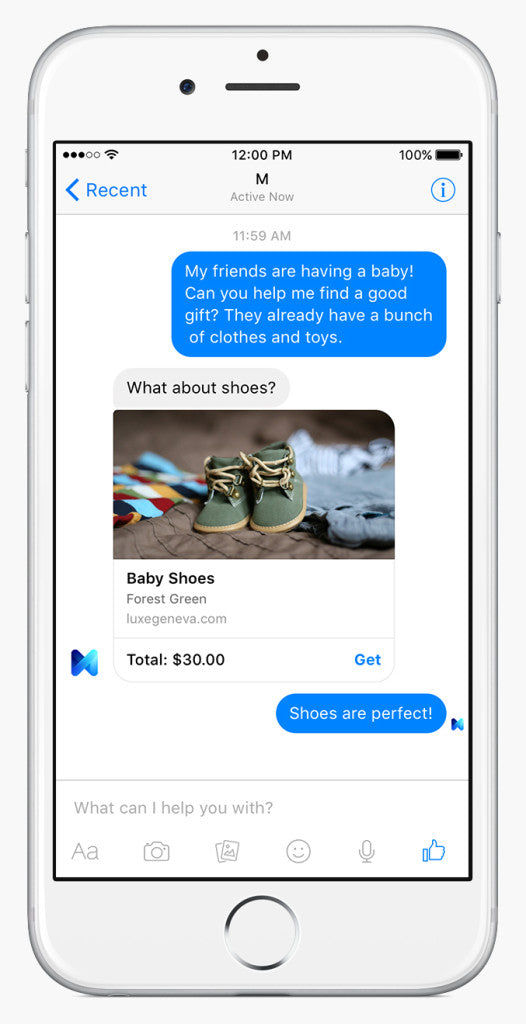 conversational commerce facebook m