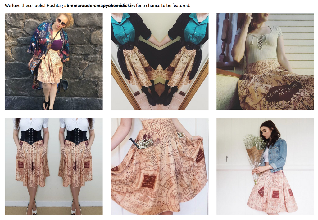 User generated content example from Black Milk Clothing
