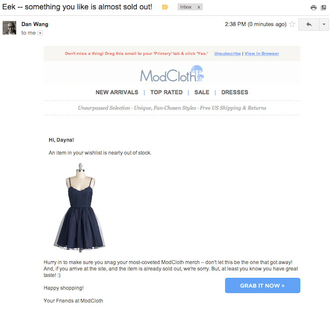 Amazing Abandoned Cart Emails And What You Can Learn From Them - Abandoned cart email template