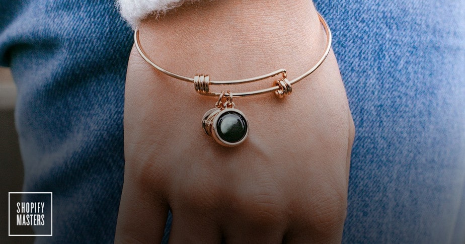 moonglow jewelry on a woman's wrist