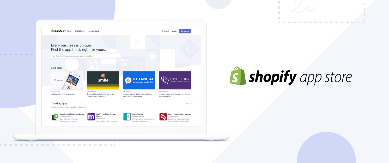The all-new Shopify App Store helps you find the right apps for your business