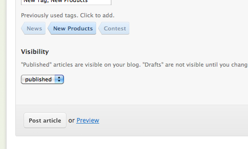 Product Update: Draft Function in the Blog Page