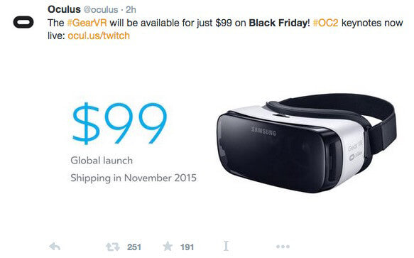 Oculus black friday promo