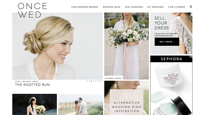 How a successful wedding blogger cashed in on her expertise my goal was to build out this large database of dresses and increase our traffic so that we could eventually sell advertising junglespirit Choice Image