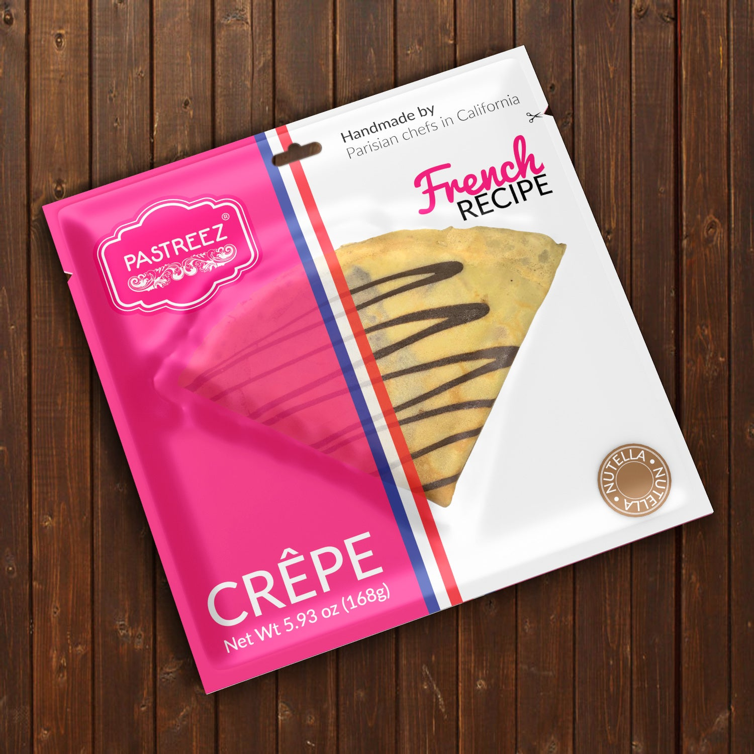 A Nutella flavored crepe by Pastreez.