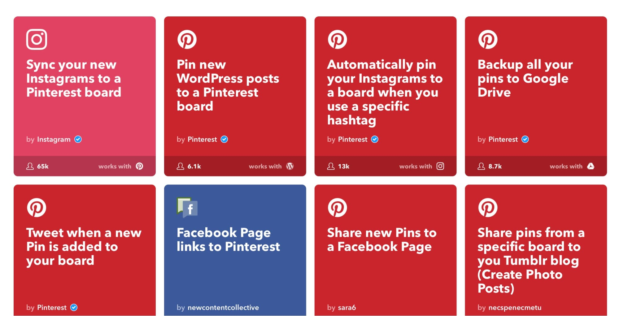 ifttt for automating pinterest