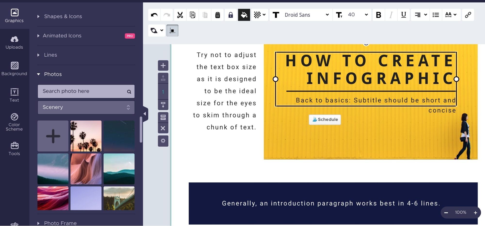making infographics for pinterest with piktochart
