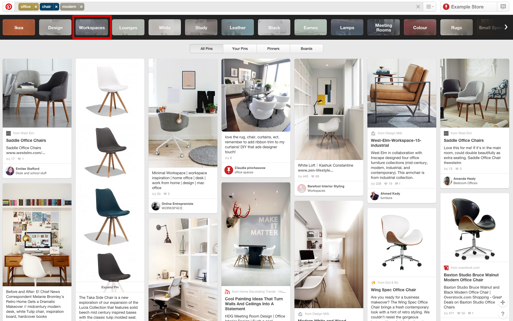 pinterest guided search workspaces