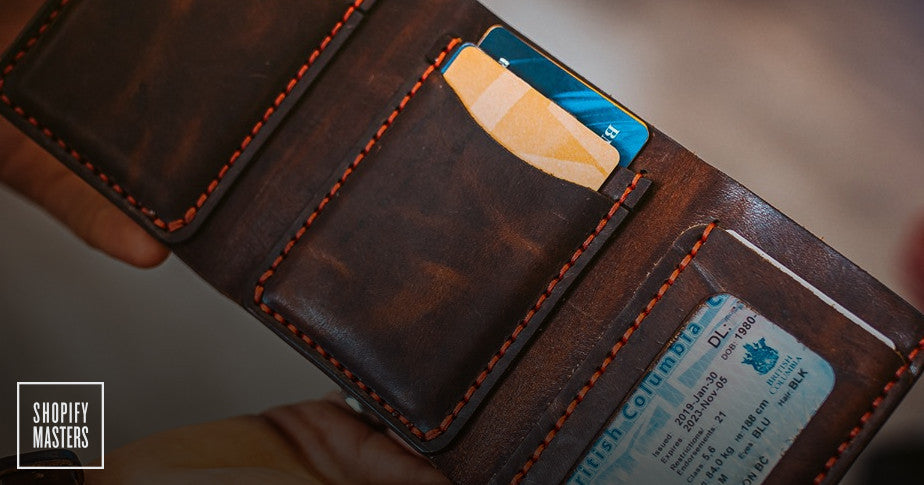 Wallet by Popov Leather being displayed.