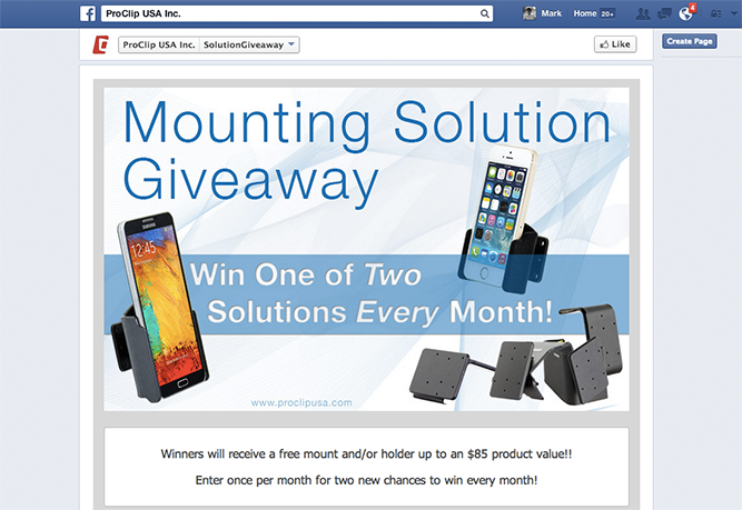 3. Hold contests and giveaways on Facebook