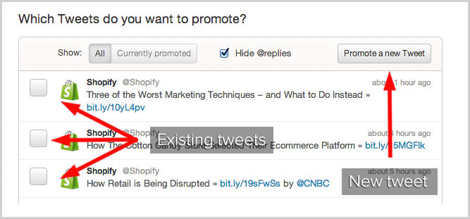 Promoted Tweets vs Promoted Account