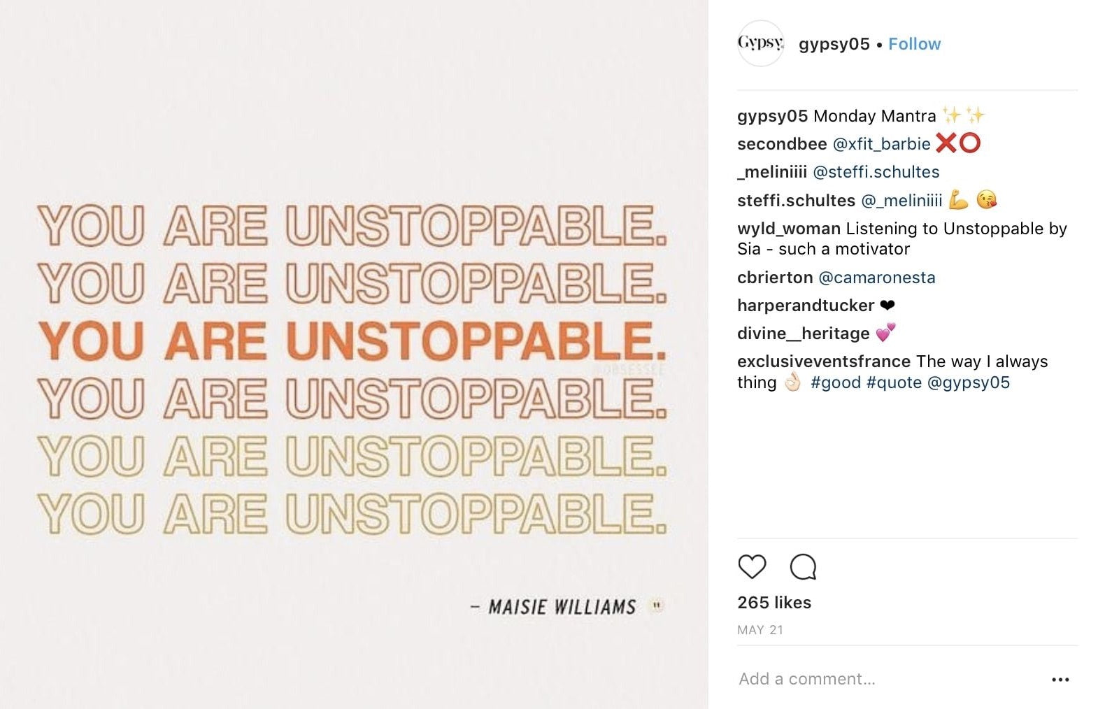 Image of: Sayings Instagram Quote Post Idea Shopify What To Post On Instagram 20 Post Ideas To Spice Up Your Feed