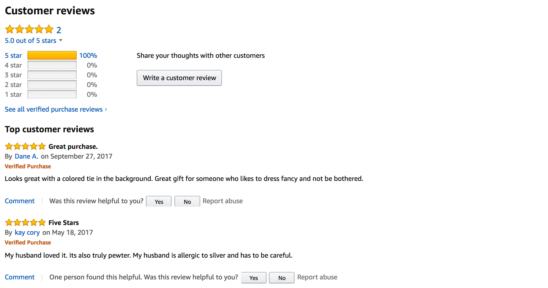 Amazon product reviews