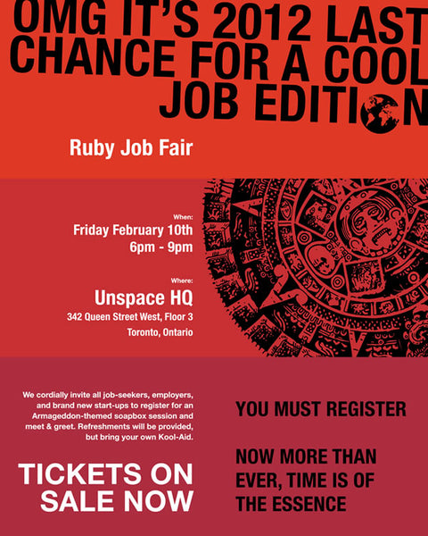 Ruby Job Fair Poster