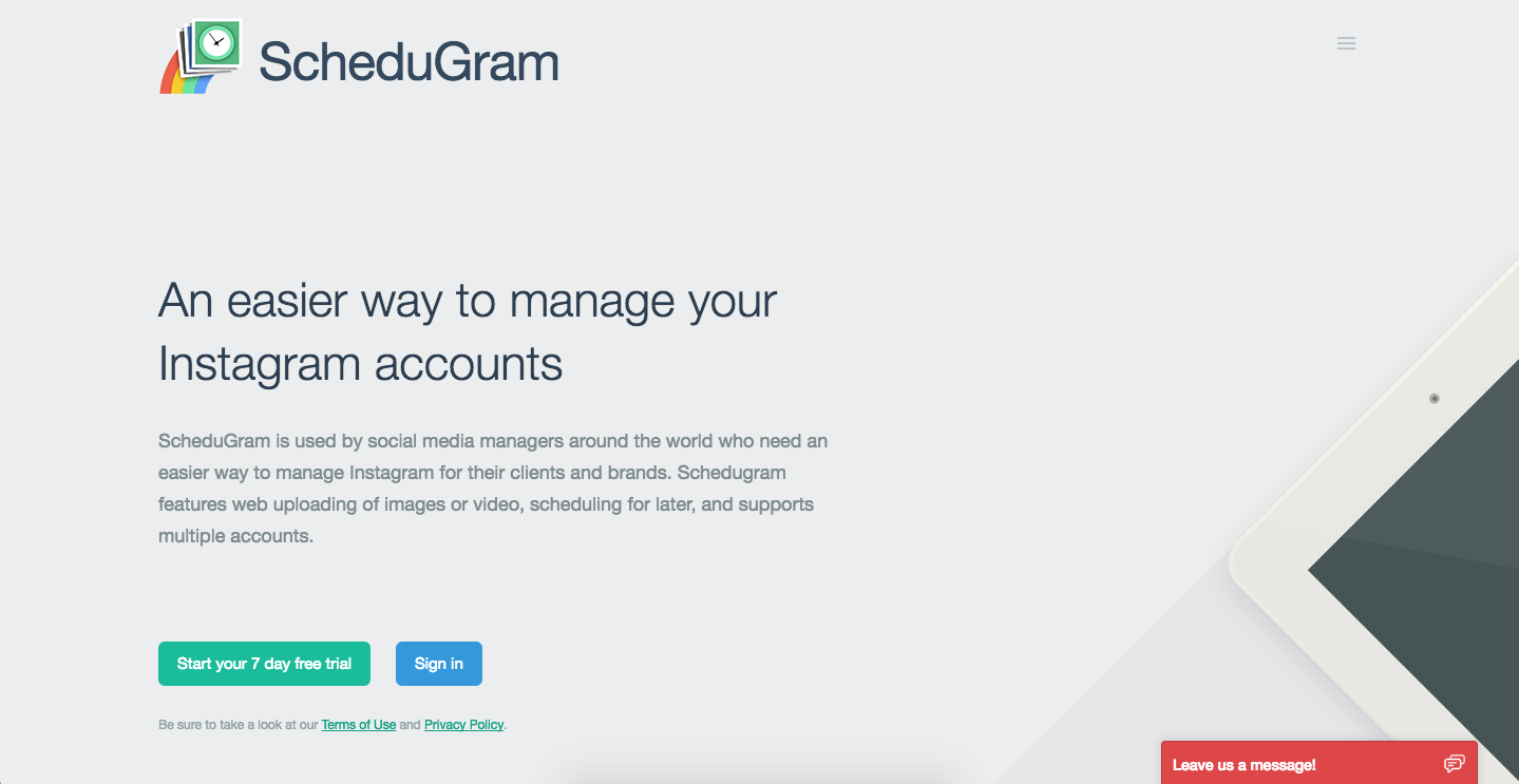 schedugram instagram tools