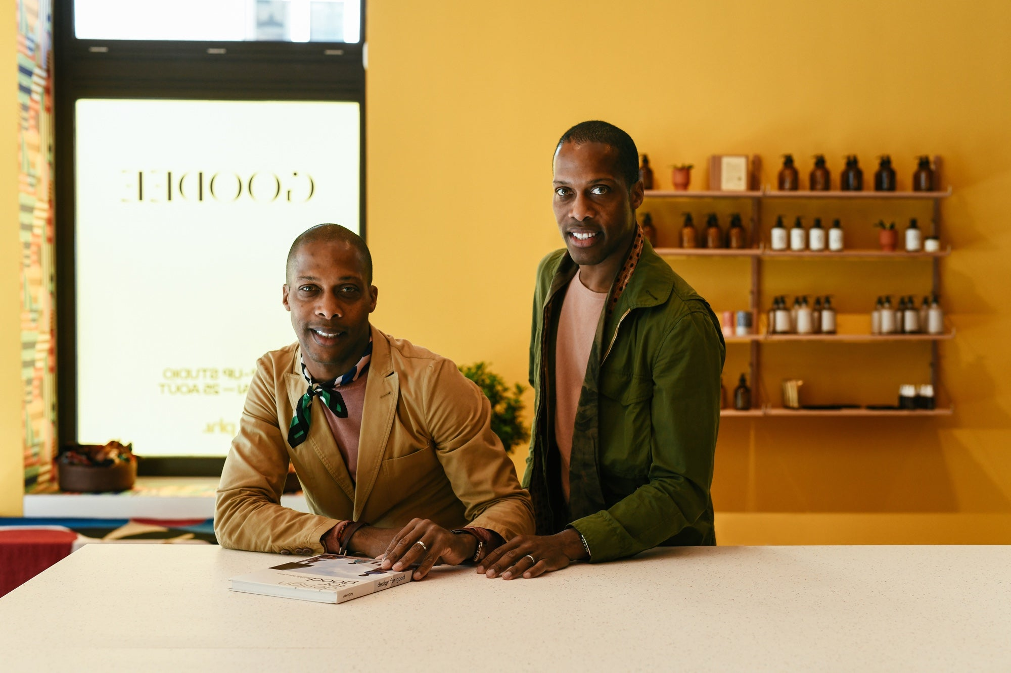 Portrait of GOODEE founders, Byron and Dexter Peart