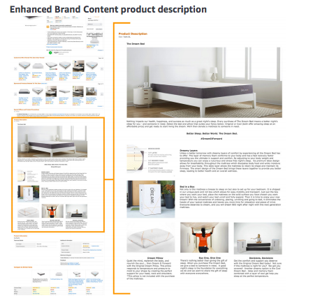 Sell on Amazon: Enhanced Brand Content product description example