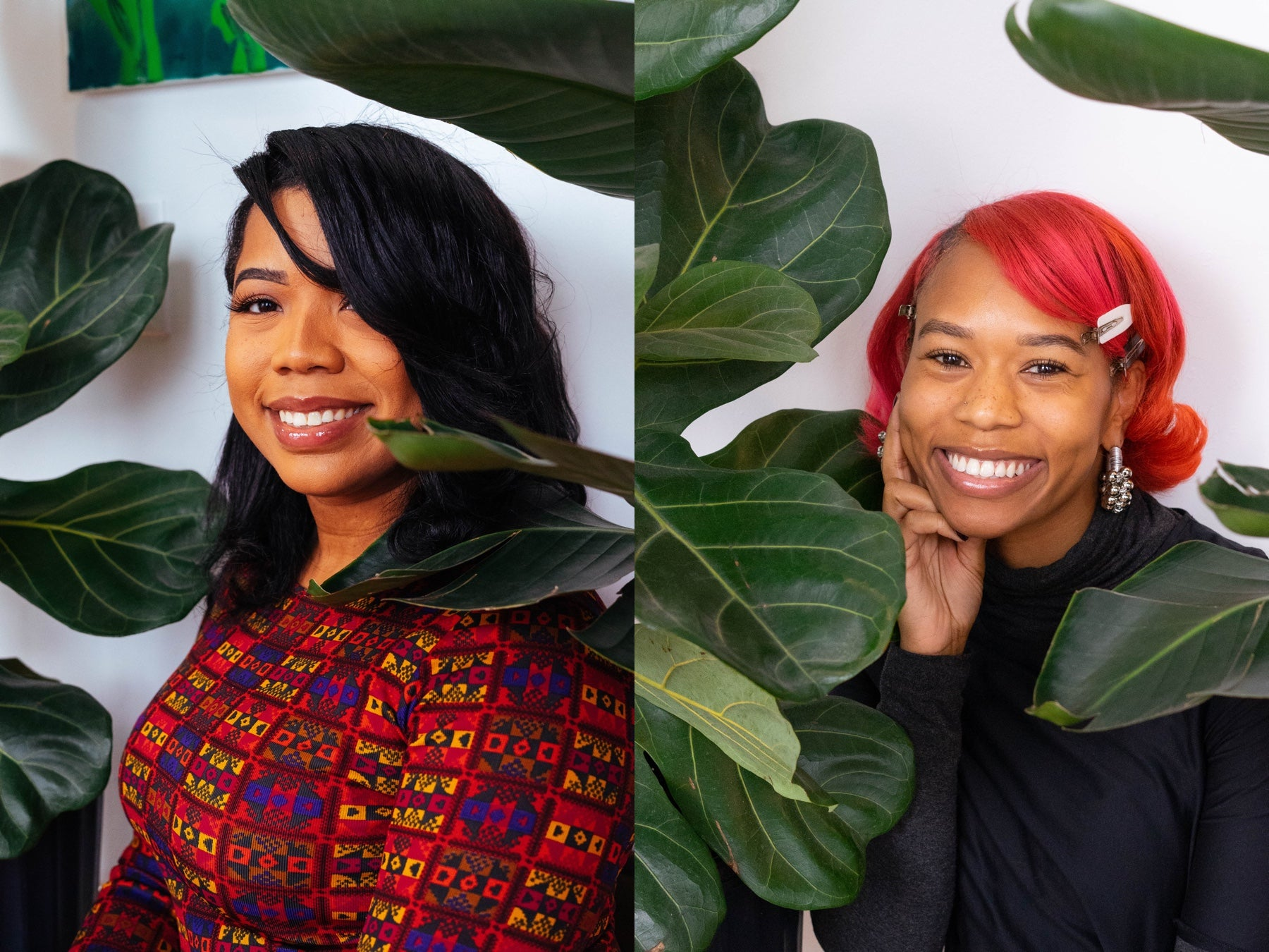 Side by side portraits of the founders of Grounded plants