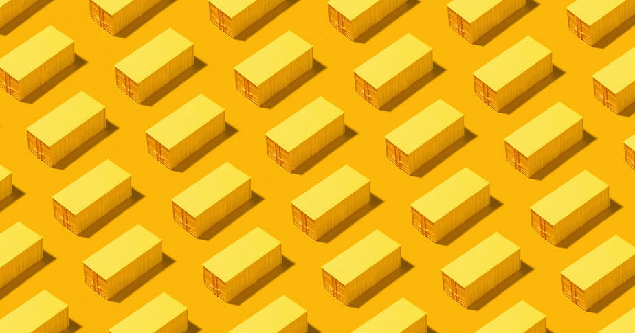 yellow shipping containers