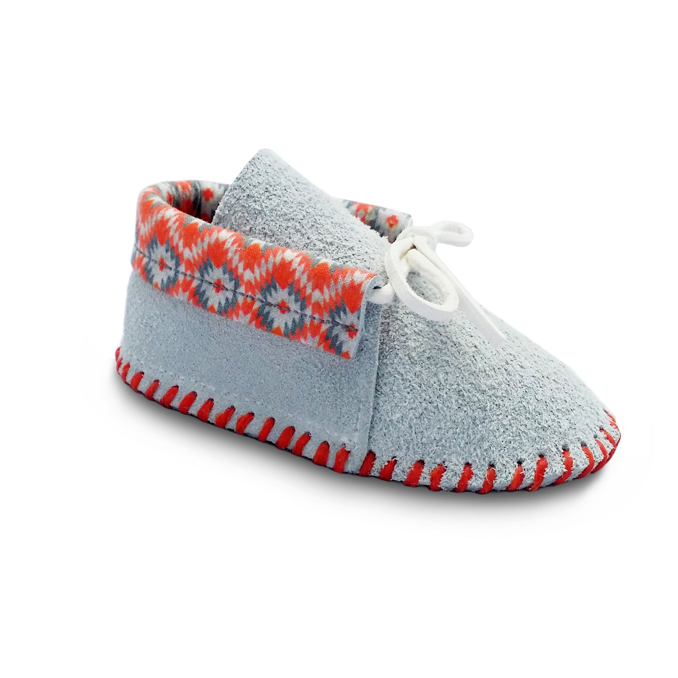 Baby moccasins by TPMOCS in the design of setting suns.