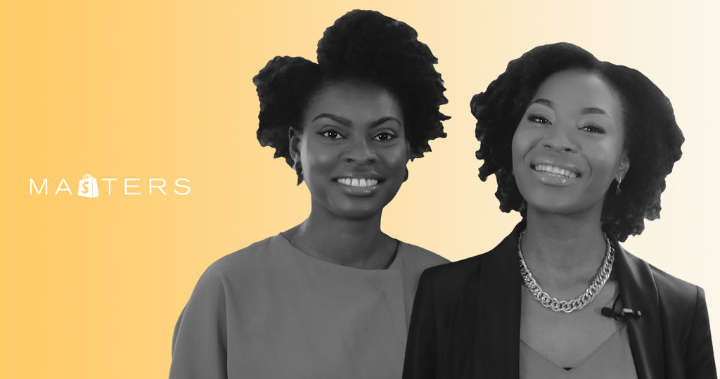 The co-founders of Afrocenchix, Joycelyn Mate and Rachael Corson.