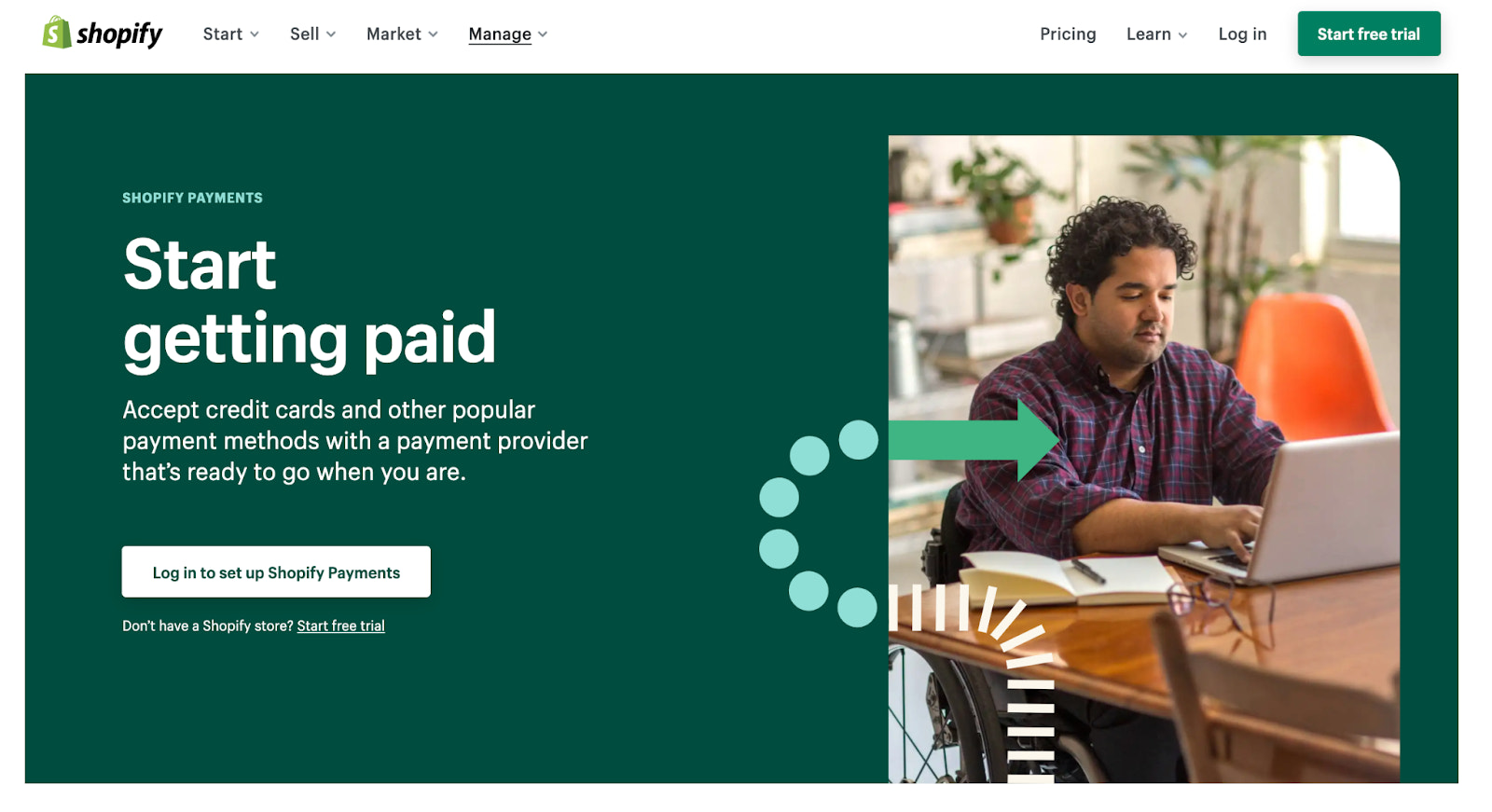 Shop Pay landing page