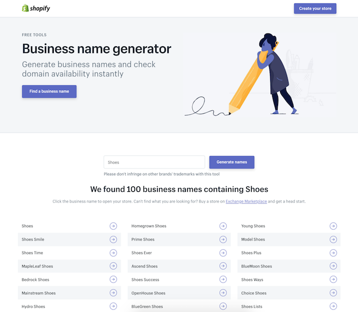 business name suggestions generator