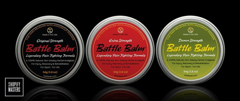 battle balm on shopify masters podcast