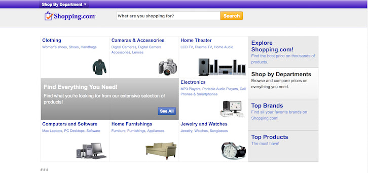 20c383d7d0 Shopping.com is part of eBay's family of companies and is another great  channel for merchants to put their products in front of prospective buyers.