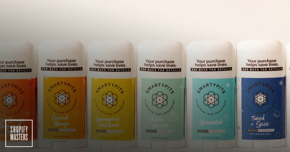A selection of SmartPits deodorants.