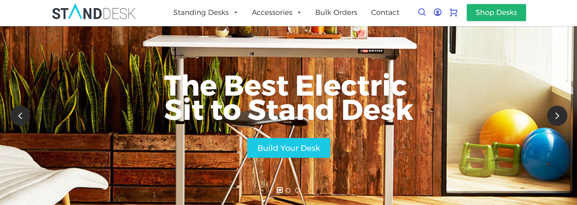 StandDesk homepage