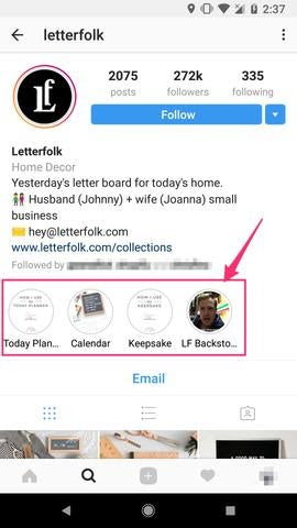 Letterfolk Instagram Highlights