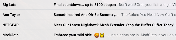 Witty email subject lines dating