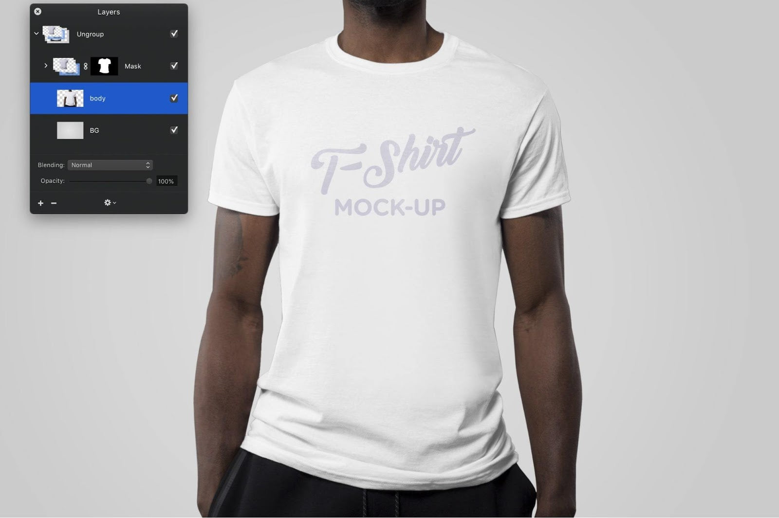 T-shirt mock up