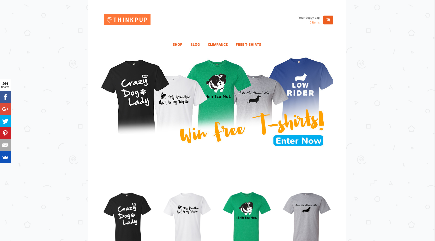 thinkpup t shirts