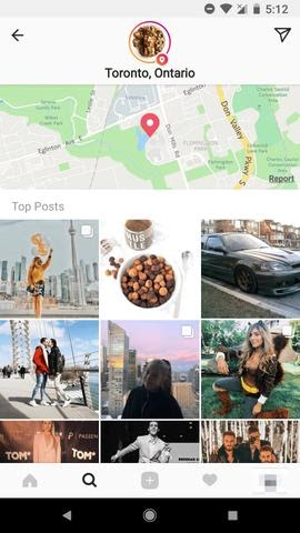 Instagram location feed