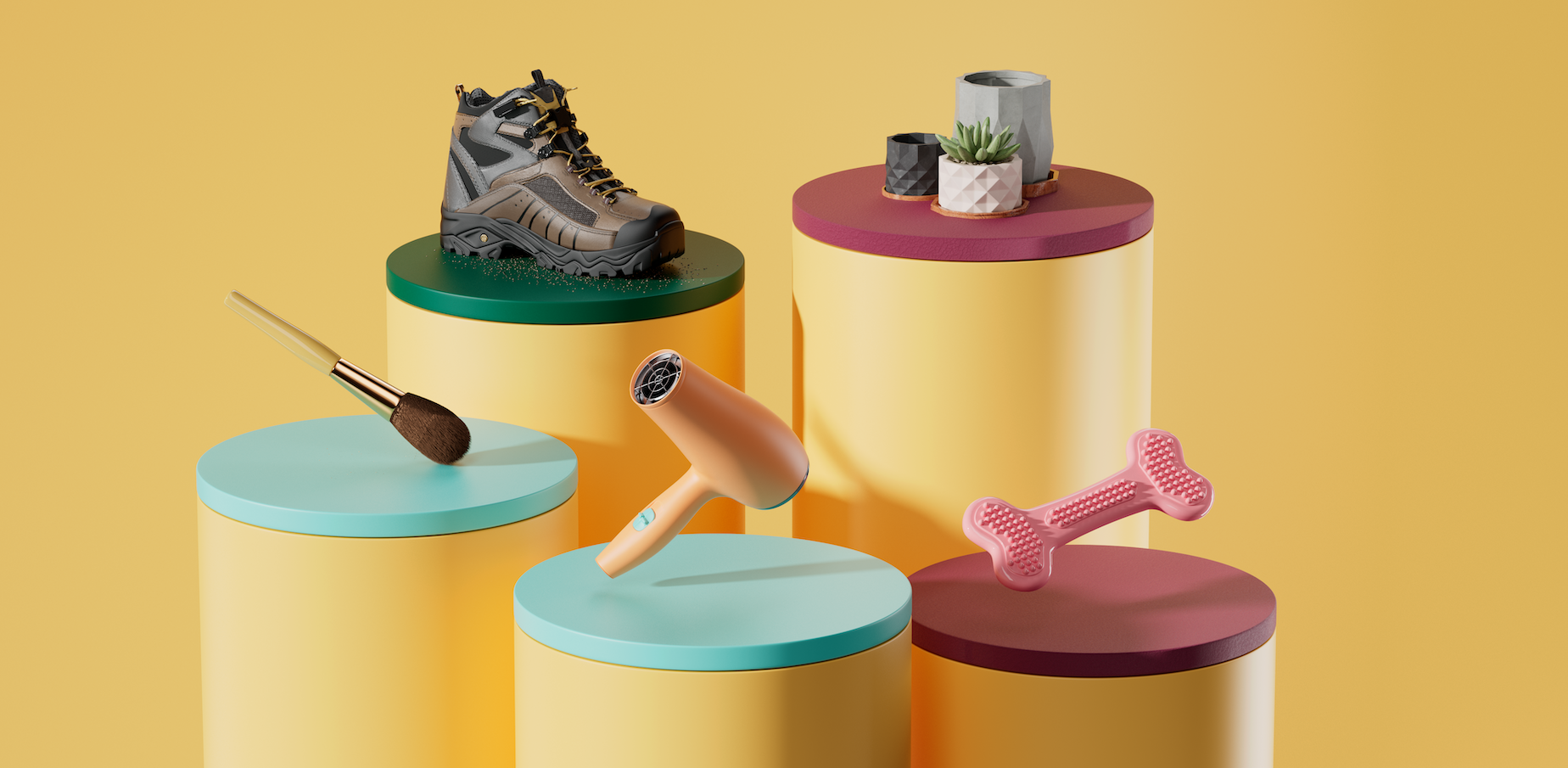 3D models of the top-selling trending products of 2021, covered in detailed throughout the article