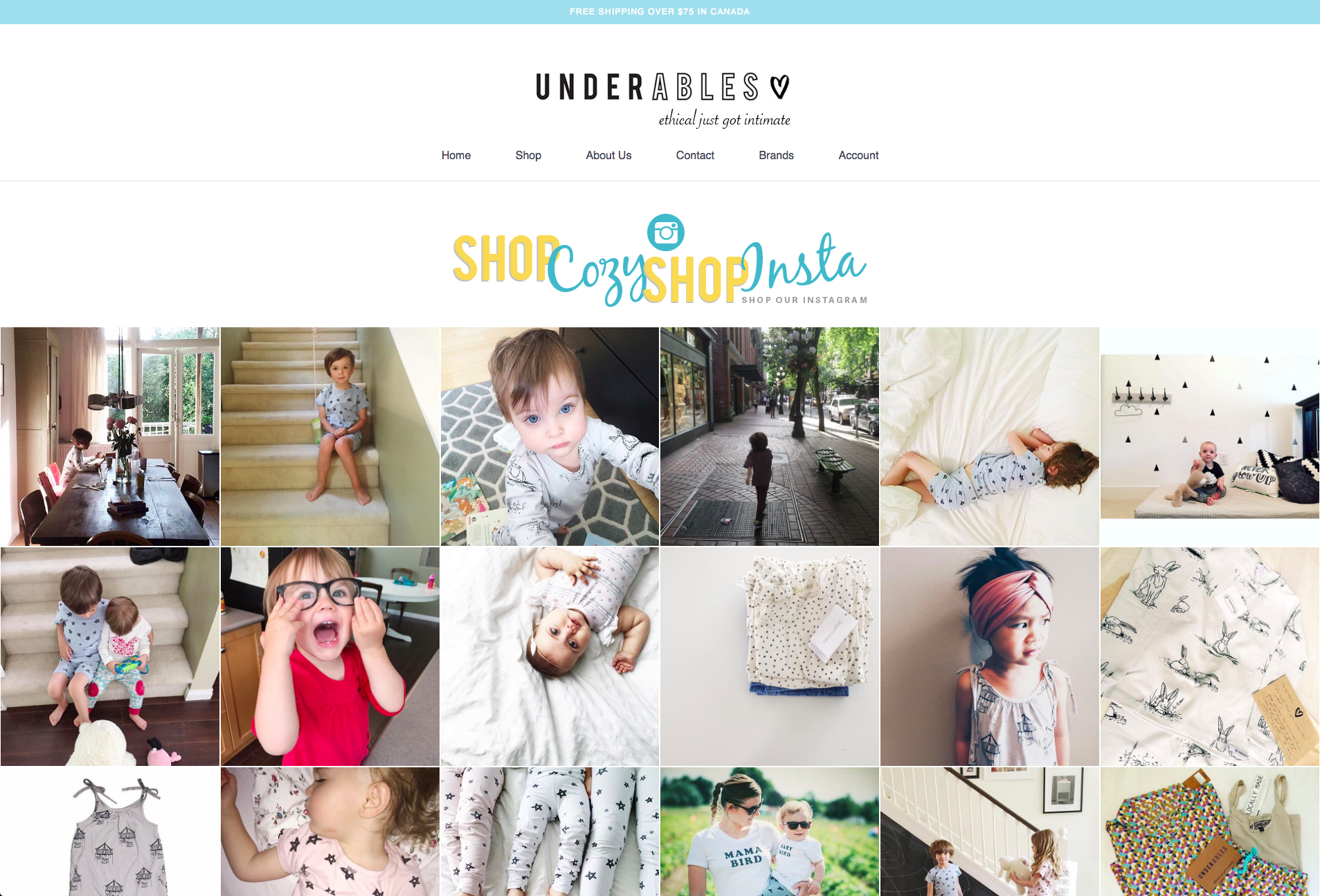 underables shoppable instagram