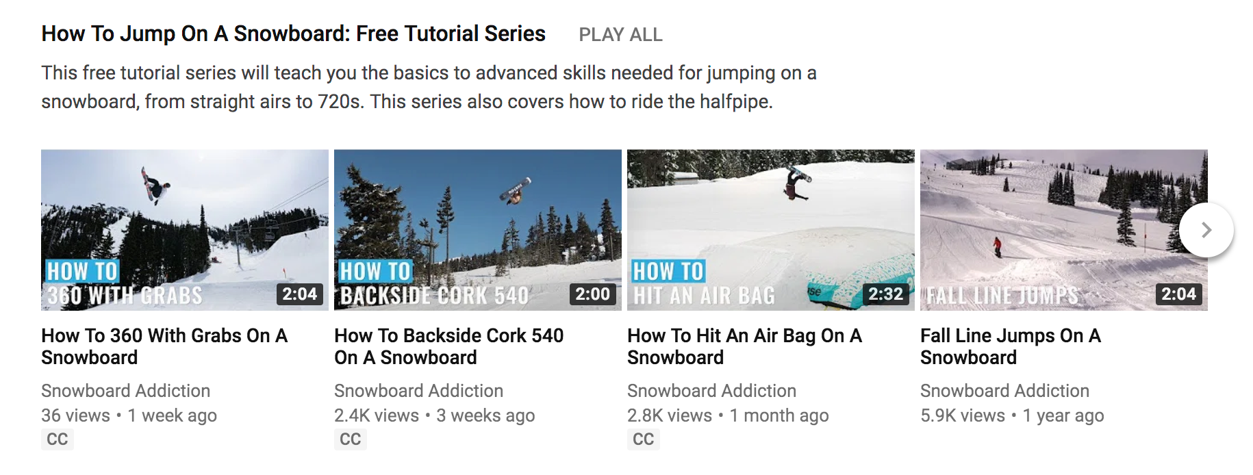 Youtube for business: here's an example of how-to videos and educational content from Snowboard Addiction