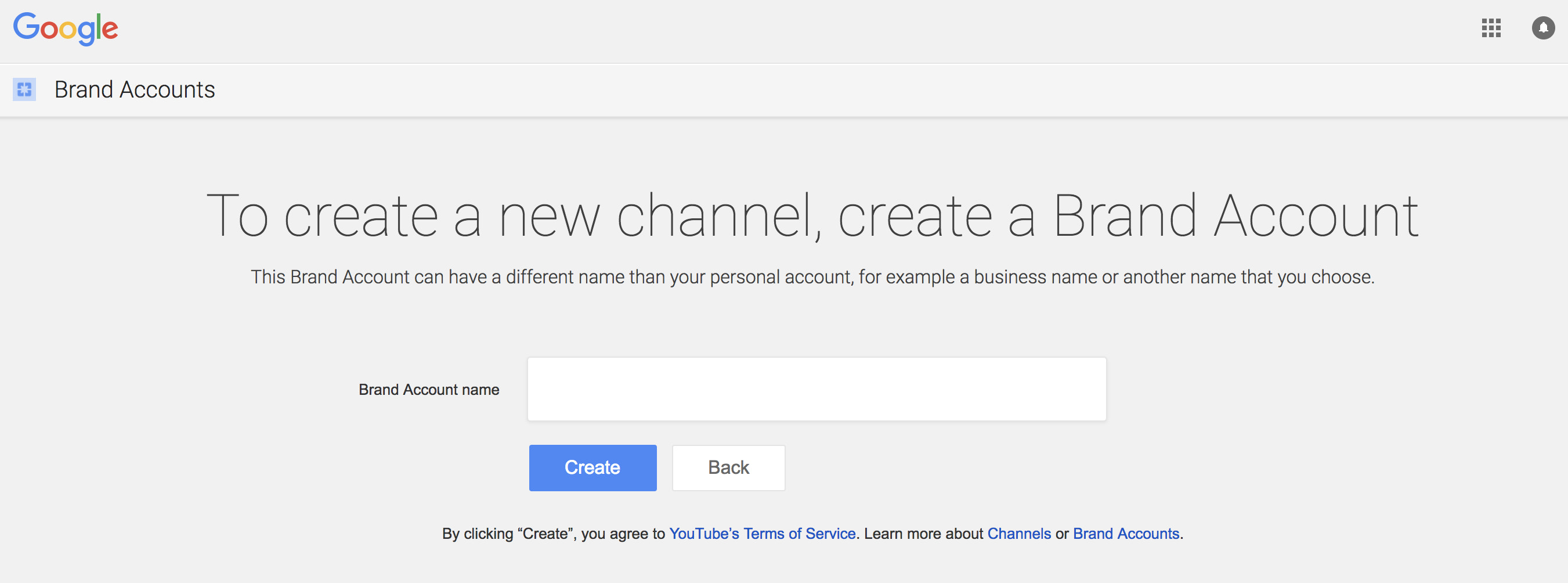 Youtube for business: creating a new brand account