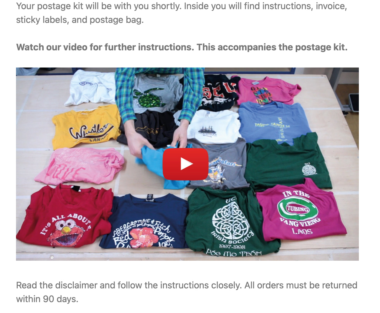 Too many t-shirts YouTube marketing in emails
