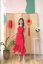 Alivia Lace Mermaid Dress - Red (S/M)