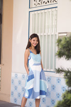 Adora Abstract Dress - Blue