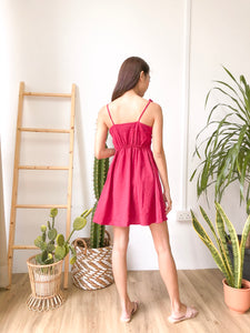 Sofia Sweetheart Dress - Deep Red