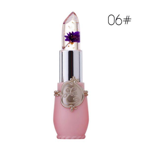 New Long Lasting Moisturizer Transparents Flower Lipstick Cosmetics Waterproof Temperature Change Color Jelly Lipstick Balm