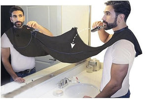 120X75 cm Man Shaving Accessories Bathroom Apron Beard Care  Barber Apron Waterproof Floral Cloth Cleaning Protector Black