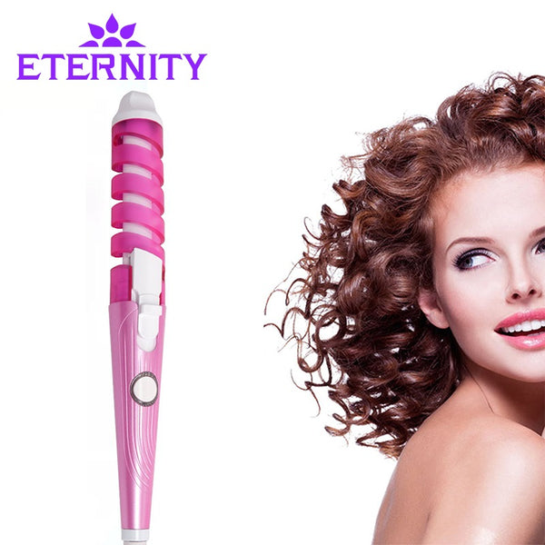 Electric Magic Hair Styling Tool Rizador Hair Curler Roller Monofunctional Spiral Curling Iron Wand Curl Styler NHC-8558