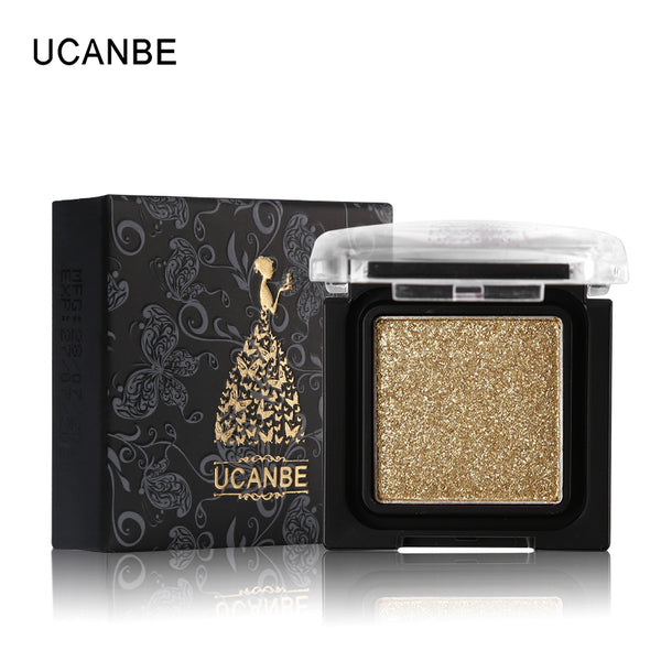 UCANBE Brand 8 Colors Single Metallic Eye Shadow Makeup Palette Nude Shimmer Matte Pigmented Glitter Eyeshadow Cosmetics Set